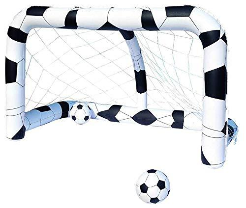 Kids Fun Inflatable Football Shooting Goal With Net & 2 Ball Polyvinylchloride Kids Sport Outdoor Home Game Toy