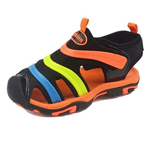 Kids Sandals Summer Sandals Comfortable Canvas Breathable Non-Slip Flat Shoes Outdoor Sports Sandals Running Shoes Baby Toddler Shoes Orange