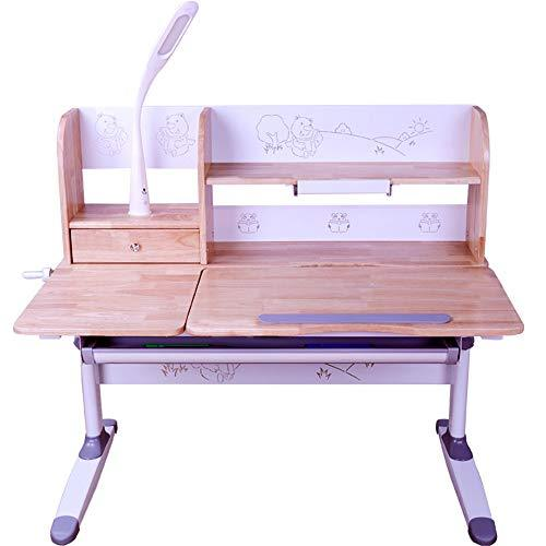 Kids Study Child Study Desk Childrens Study Desk Chair Table Set Tiltable Table And Chair For Kids Art Wood Table Set Work Station Height Adjustable (Color : Wood, Size : One size)