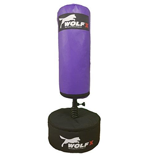 Kids/Junior Boxing FREE STANDING Punch bag Set Free standing Bag + Gloves , Skipping Rope (Purple)