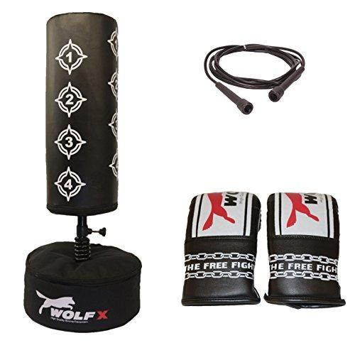 kids/junir boxing free standing punch bags gloves skipping rope