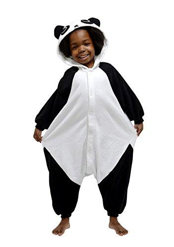 Kigu Boy's Panda Onesie, Black, 6-8 Years (Manufacturer Size:130cm 5-9  Years)