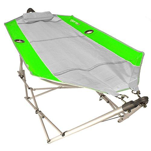 Kijaro Coast Portable Beach Breeze Hammock with Cup Holders and Pillow