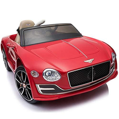 Kikioo 12V 2.4GHZ Parental Remote Control Roadster Toy Electric Ride On Car Wheels Suspension, Music,Remote Control, Headlights and Horn MP3 Player Music Leather Seat Educational Toy for Kids Age 4+