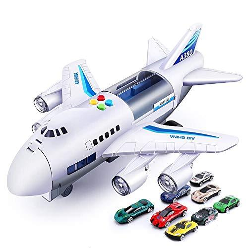 Kikioo Alloy Toys Diecast Plane Pull-Back Electric Civil Aviation Airbus Aircraft Flashing Lights Space Engine Sounds Shuttle Model Air Kit Ideal Educational Toy Toddlers, Boys Girls Aged 3, 4, 5, 6