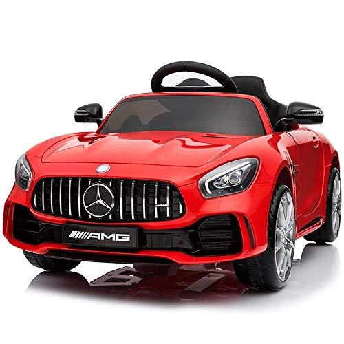 Kikioo Children's Electric Car 4WD Can Sit 12V Ride On Racer Cars,Spring Suspension Wheels, Swing Baby Toy Running Upgrade +2.4G Bluetooth + Music Early Education Rocking Cradle Leather Seat Cover Re