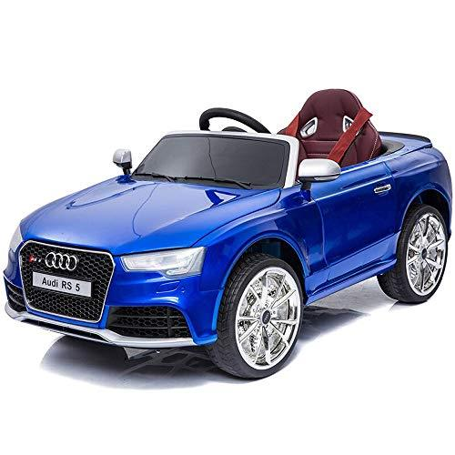 Kikioo Parental 2.4GHZ Remote Control Roadster Toy Electric Kids Ride On Cars 12V Battery Power Vehicles W/Wheels Suspension, Remote Control, Music& Story Playing, Colorful Lights, Sunshine Model Red