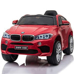 Kikioo Premium 12v Children's Electric Battery Operated Ride On Car with 2.4G Parental Remote Control, Lights, Music, Mp3 Connectivity, 4 Wheel Suspension, Black Leather Seat, One Button Start- Red