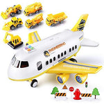 Kikioo Toys For 3-8 Year Old Boys Die-cast Toy Alloy Pull Back Space Shuttle Electric Airplanes Model Civil Aviation Airbus Aircraft With Lights & Sounds Kids Gift Plane Christmas Birthday Gifts Yello