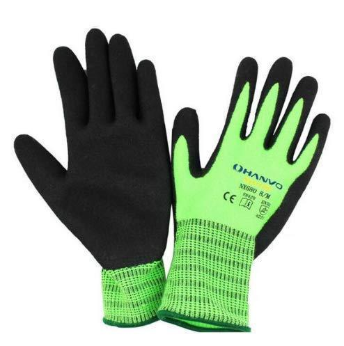 KINGDUO Gardening Outdoor Thickened Warm Gloves Brushed Nitrile Coated Working Labor Protection Glove-M