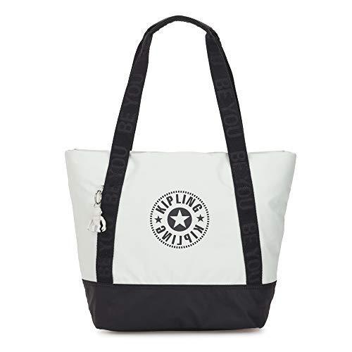 kipling Beach Sidra Large Tote White Blue BL
