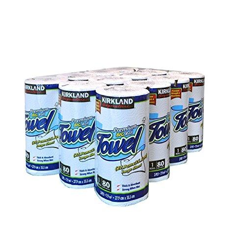 Kirkland Signature 3X Roll Towel, 12 x 80 Sheet Pack
