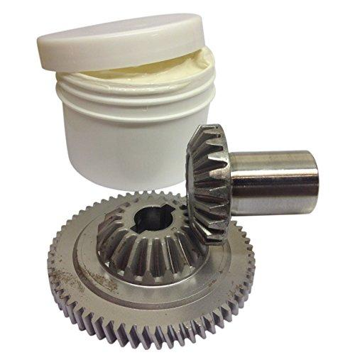 KITCHENAID STAND MIXER ATTACHMENT HUB AND CENTRE BEVELLED GEARS WITH 100G OF LKS FOODSAFE GREASE.