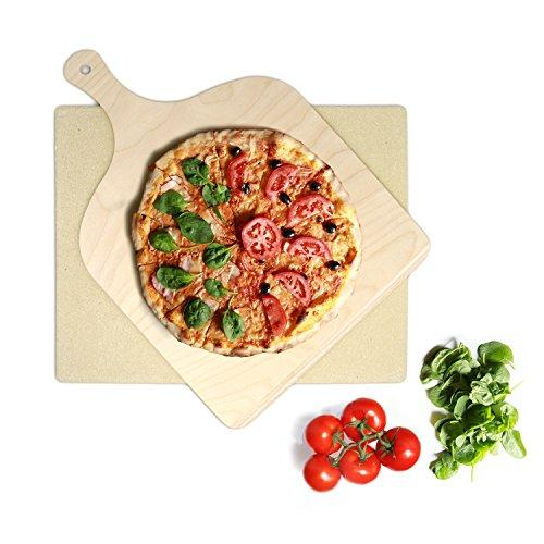 KLAGENA Pizza bread baking stone set for oven and grill – pizza stone/pizza bread baking stone for freshly baked, delicious pizzas and bread