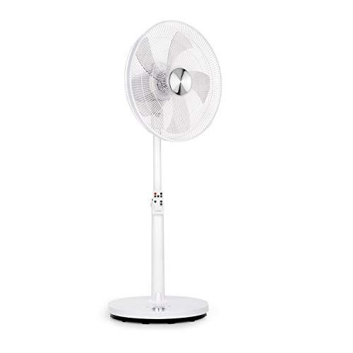 "Klarstein Clear Stream • Pedestal Fan • Standing Fan • Air Cooler • 16"" (41 cm) • 28 W • 3120m³ / h • Oscillation 90 ° • 3 Wind / 12 Speed Levels • Height Adjustable • incl. Remote Control • White"