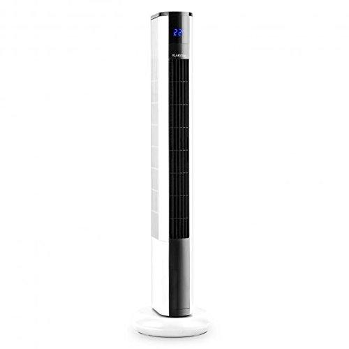 Klarstein Skyscraper 3G Tower Fan • 50W • 3 Speed Settings and Fan Modes • Switchable 90 ° Oscillation • Touch Panel • Remote Control • Economical in Use • Timer • Easy-to-Clean Filter • Temperature Display on Front Panel • Space-Saving • White
