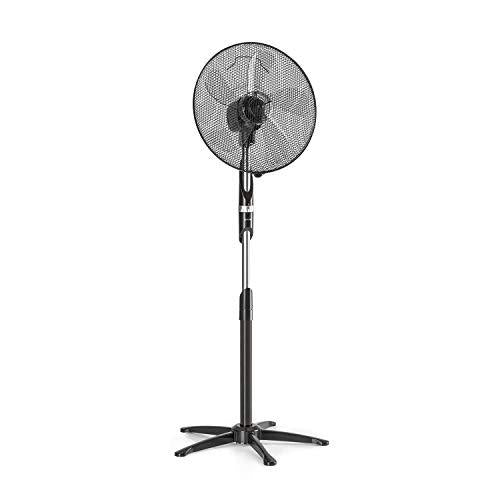 "Klarstein Summer Vibe • Stand Fan • Tower Fan • Pedestal Fan • 16"" (41 cm) • 55 W • 2040m³ / h • Switchable Oscillation 65 ° • 3 Speed Levels • Height Adjustable • Black"