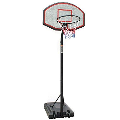 KLB Sport Portable Height Adjustable Youth Basketball Hoop System Stand w/Wheels, 36 Inch Backboard
