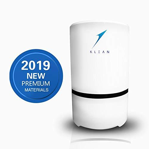 KLEAN Air Purifier - Portable Air Cleaner for Home with True HEPA & Active Carbon Filters - Room Freshener, PM Eliminator, Desktop USB Ioniser - Removes Dust, Pollen, Smoke, Odours [Energy Class A+]