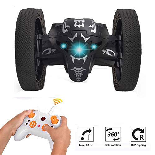 KOBWA Leaping Dragon 2.4G RC Bounce Car with LED Night Light,Wireless Remote Control Bounce Car Jumping Toy Car Kids Toys Birthday Gift