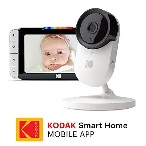 KODAK Cherish C520 Video Baby Monitor - Baby Camera, 5-inch HD Baby Monitor, One-Touch Audio Monitor, Mobile and WiFi App