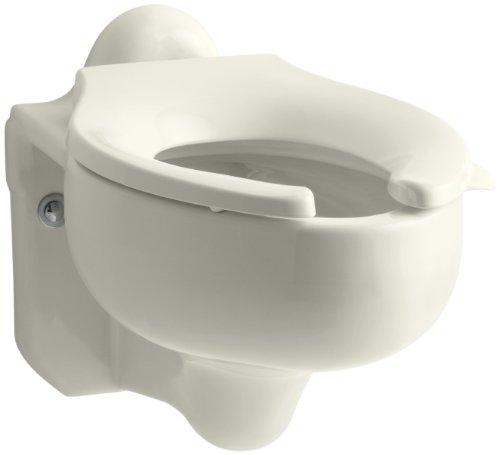 Kohler K-4460-C-96 Sifton Water-Guard Wall-Hung Toilet Bowl with Rear Spud, Biscuit