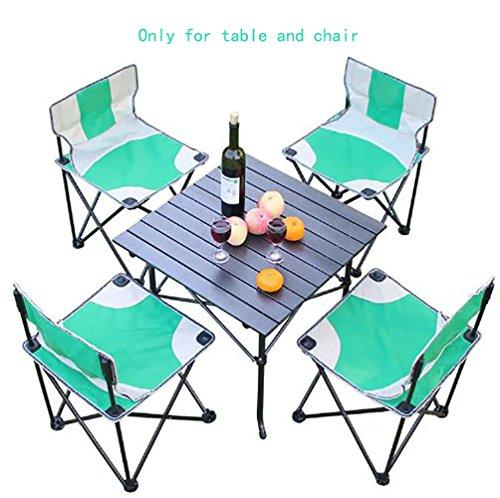 KOKR Folding Table Chair Set, for Outdoor Camping Picnic Party BBQ Garden Kitchen Dining,Quick Set-Up, Opens in seconds (Four Chairs Included in the Set)