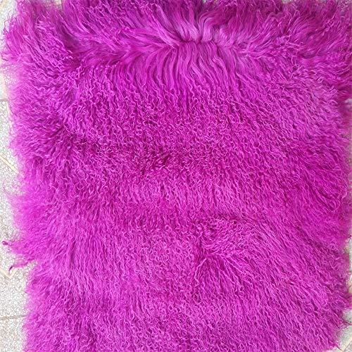 KOOCO Purple Mongolian fur Blanket For Bed Rug Real Carpet Decorative Blankets Home Floor Rugs and Carpets For Living Room Christmas,300x400cm