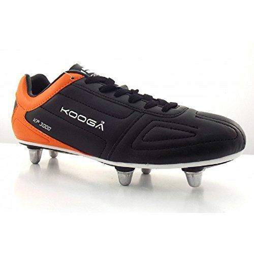 Kooga KP 3000 LCST Junior Rugby Boots Size 5 Black/Orange