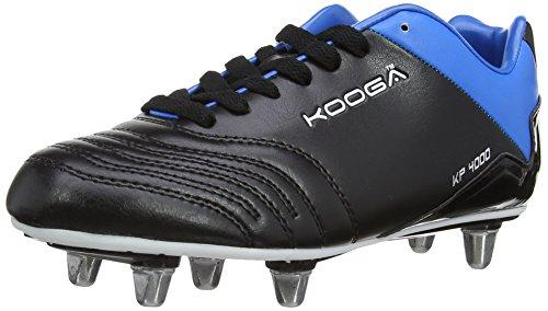 Kooga Unisex-Child KP 4000 Junior LCST Rugby Boots 31417 Black/Blue/White 4 UK, 37 EU Regular