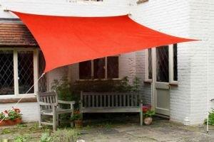 "Kookaburra Waterproof Sun Sail Shade ? Red - 17ft 9"" Square"