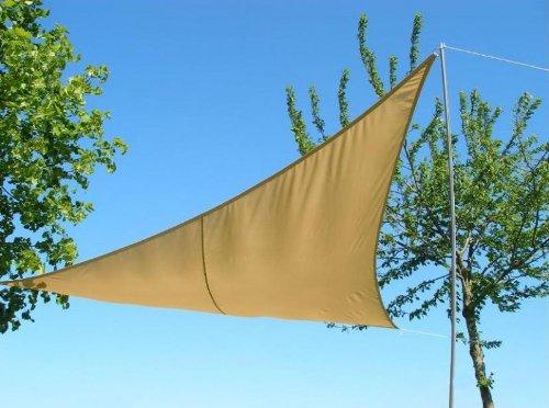 "Kookaburra Waterproof Sun Sail Shade Sand 17ft 9"" Square"