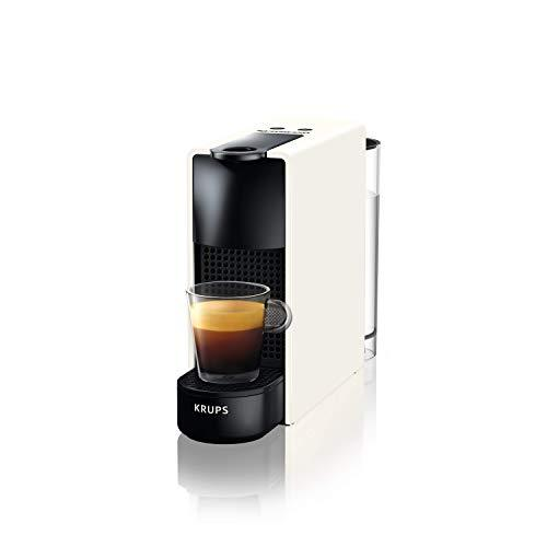Krups Nespresso Essenza Mini Capsule Coffee Maker, 19-Bar Coffee Machine with 2 Coffee Programmes, Ultra-Compact Size and Auto-Off Function, 1450 W, 0.6 litres White