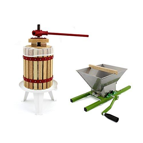 KuKoo Fruit Press & Fruit Crusher/Portable Manual Shredder & Pressed Juice/Homemade Cider & Wine Making Kit / 6, 12, 18 Litre (18 Litres)