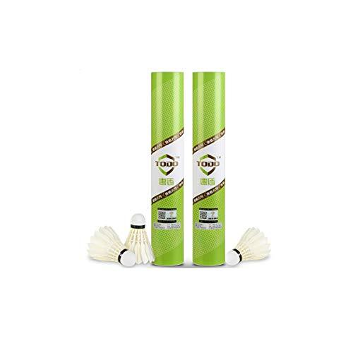 Kuqiqi Badminton, Resistant To Fight, Goose Feather Composite Cork Training, 12 / Tube, Amateur, Training, Entertainment Small size and fast speed