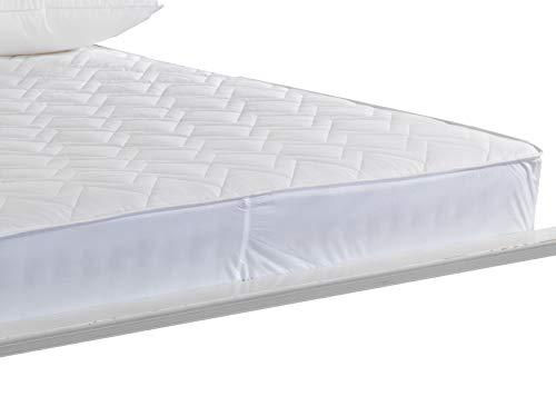 Lancashire Textiles SINGLE Quilted Natural Australian Wool - Winter Warm - Mattress Protector with 38cm Deep Fitted Skirt - Single