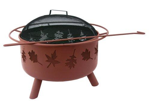 Landmann USA 28673 Big Sky Firepit and Grill, Tree Leaves