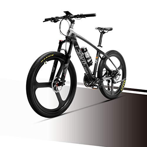 LANKELEISI S600 MTB Mountain Bike Carbon Fiber Super-Light 18kg No Electric Bike with Hydraulic Brake Shimano Altus (Black + White)