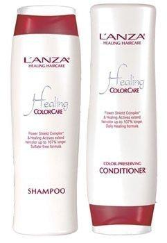L'Anza Healing Color Care Color Preserving 300 ml Shampoo + 250 ml Conditioner (Combo Deal)