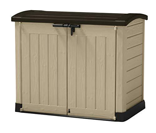 Large Plastic Storage Box Garden Outdoor Shed For Wheelie Bins Tools Bikes & Lawn Mowers