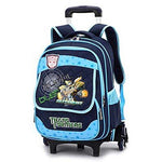 Latest Removable Children School Bags with 3 wheels Stairs Kids Boys Girls Trolley Schoolbag Luggage Book Bags Wheeled Backpack,8808DB