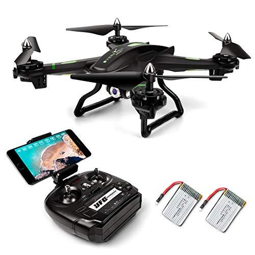 LBLA FPV Drone Include 2 Battery Helicopter with Wifi Camera Live Video Headless Mode 2.4GHz 4 CH 6 Axis Gyro RTF RC Quadcopter, Compatible with 3D VR Headset