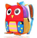 LBYMYB Cartoon Children's School Bag Ultra Light And Environmentally Friendly Cute Children's Backpack kids's backpack (PATTERN : Owl, Size : M)