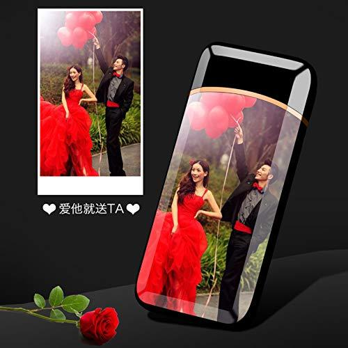 LCottage Fingerprint double arc lighter charging creative personality windproof usb electronic cigarette lighter to send boyfriend 2018 new, single-sided photo