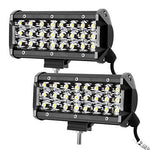 LE 7in 72W LED Work Light Bar, 30° Spot Beam Spotlight, 7200lm, IP67 Off Road Fog Light for Car, Truck, Boat, Trailer and More, Pack of 2