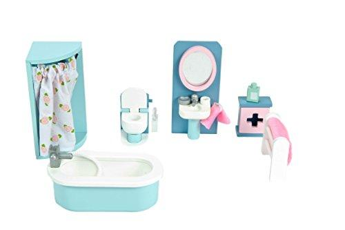 Le Toy Van Daisylane Wooden Doll's House Furniture - Bathroom Set