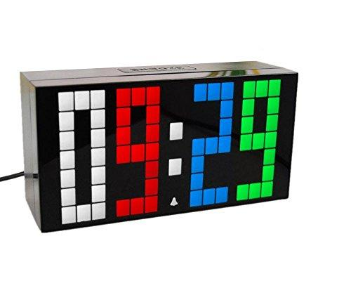 LED Digital Led Clock Wall Alarm Digital Calendar Clock , 4