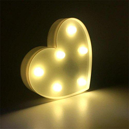 LED Heart Night Lights Warm White Night lamp for Kids Bedroom Sweet Nursery Room Decorations
