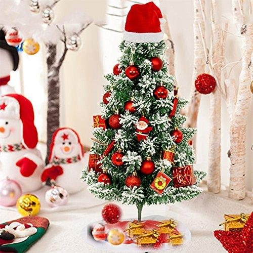 leedioo 60cm snow christmas tree christmas tree ornaments package hat desktop mini christmas decorations gifts