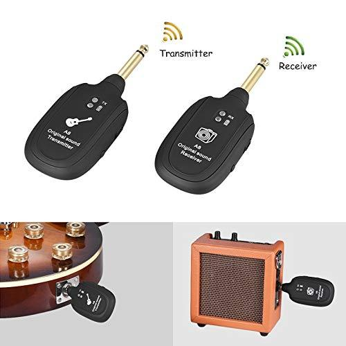 leegoal Guitar Wireless System, Rechargeable Digital Transmitter Receiver Set for Electric Guitar Bass